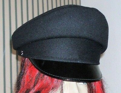 54 S PEAKED CAP/HAT Royal SIGNALS VISOR Army Military festivals fancy dress goth