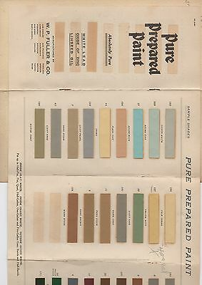 1920s Fuller Paint Co Advertising Brochure with Paint Samples Santa Rosa CA
