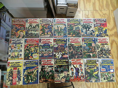 Sgt. Fury And His Howling Commandos 39 Issue Silver Comic Run 27-132 Marvel
