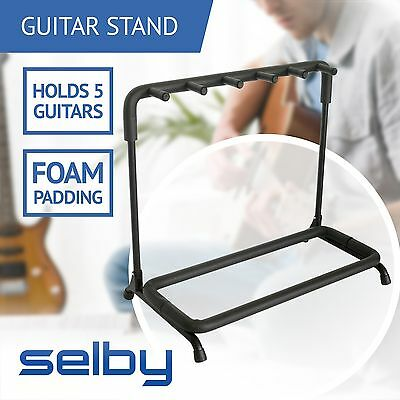 Guitar Rack Stand for 5 Guitars Electric Acoustic Bass