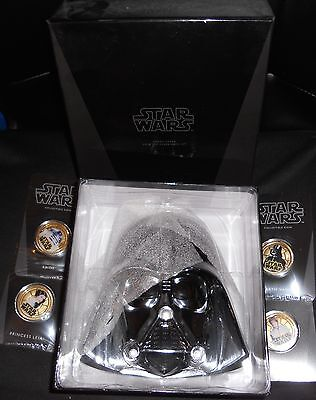 Niue 2011 $1 Star Wars Darth Vader BREATHING case GOLD Proof Coin Set OF 4 COINS