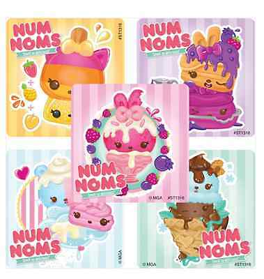 """20 Num Noms Fruit Scented Scratch and Sniff Stickers, Assorted, 2.5"""" x 2.5"""" each"""
