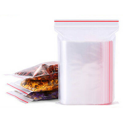 100PCS PE Transparent Plastic Bag Gift Bags Ziplock Clear Self Seal Bags 4*6cm