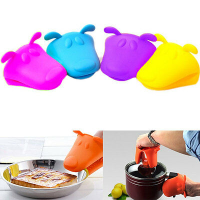 Cute Dog Silicone Heat-resistant Kitchen Oven Baking Tool Glove Pot Mitt Holder