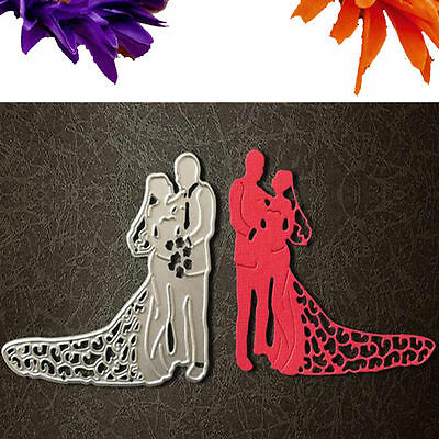 Bride Groom Wedding Couple Cutting Dies Stencils DIY Scrapbooking Paper Crafts