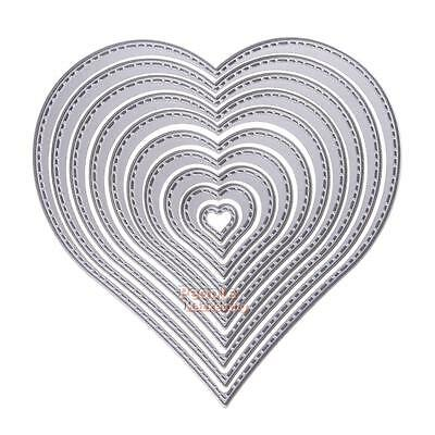 10X Heart Sewing Thread Cutting Dies Stencils For DIY Scrapbooking Paper Crafts