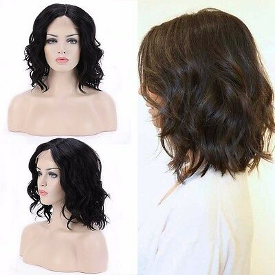 Super Lace Front Wig Heat Resistant Long Wavy BOB Full Hair Wigs Cosplay Party #
