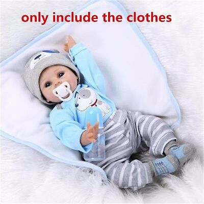 """20''-22"""" Silicone Reborn Baby Boy Doll 's Clothes Accessories, NOT Included Doll"""