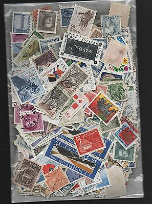 Sweden Kiloware off paper 50gms fine used excellent selection 150+ stamps