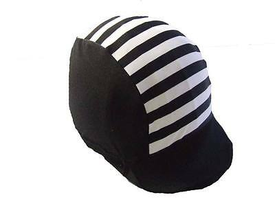 Ecotak lycra helmet cover - Black and white stripe Ecotak