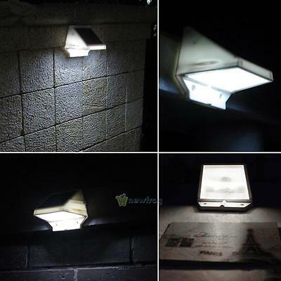 Waterproof Solar 4 LED Fence Gutter Light Outdoor Garden Yard Wall Pathway Lamp