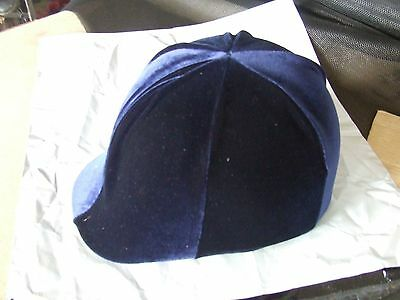 Ecotak lycra helmet cover - Navy velvet - NO PEAK POCKET