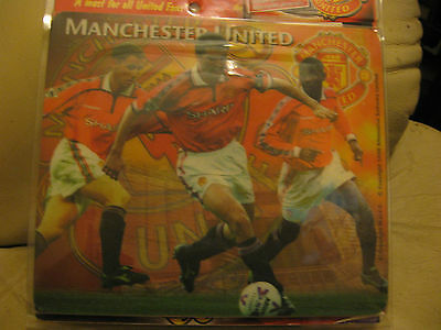 "Official 1998 Manchester United Mouse Mat Mousemat+Screensaver On 3 1/2"" Fd."