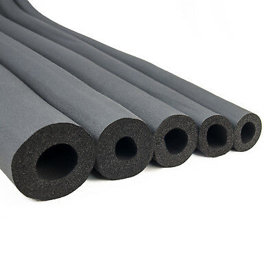 1.2m PIPE INSULATION caoutchouc rubber foam black protects from thermal lagging