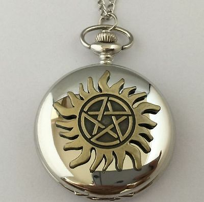 Montre de poche Supernatural symbole anti possession supernatural pocket watch