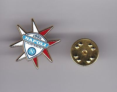 Napoli Club Malta  - lapel badge butterfly fitting