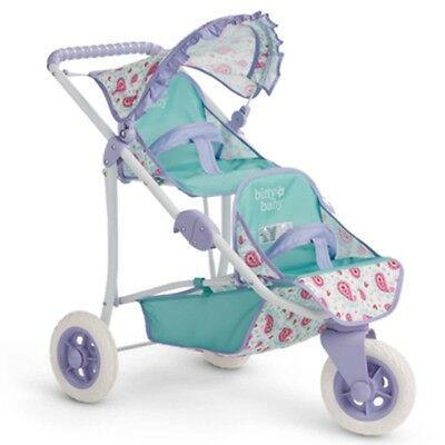 "American Girl BB DOUBLE STROLLER NEW 2016 for 15"" Baby Dolls Furniture Carriage"