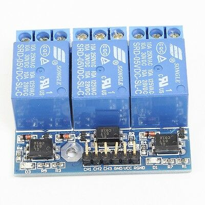 1PCS 3-Channel Relay Module With Optocoupler Isolation Compatible 3.3V 5V Signal