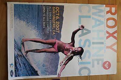ROXY Girls 11th Wahine Classic Longboard San Onofre 2007 16x24in. Surfing Poster