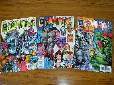 Abominations #1 - 3 Set (Marvel)  1996 (Hulk Spin-Off) 3 Issues