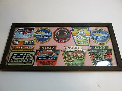 Lot Of 10 Pennsylvania Fish And Boat Commission Patches 1997 1998 1999 Others