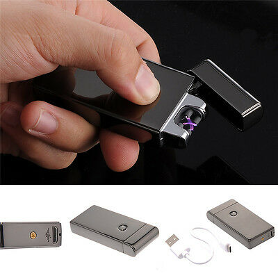 Metallic USB Rechargeable lighter flameless, no gas and fluid required lighter