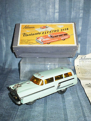 SCHUCO VARIANTO STATION CAR 3118 TURQUOISE in ORIGINAL BOX with INSTRUCTIONS