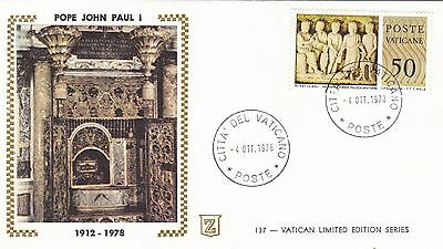 Vatican 1978 burial of Pope john Paul I Unadressed FDC