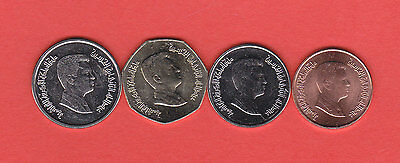 JORDAN .SET OF 4 COINS UNC. (Not send to Uruguay  and  Costa Rica)