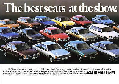 VAUXHALL CAVALIER ASTRA CARLTON ROYALE RETRO A3 POSTER PRINT FROM 70's ADVERT