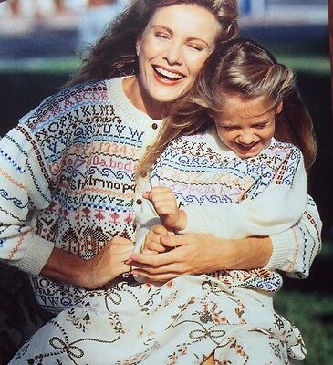 Brother MACHINE KNITTING 25 PATTERNS Sweaters Bobbles Fair isle Vests Dress +