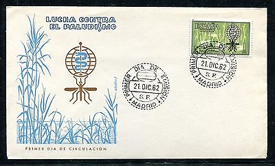 Spain  Cover, FDC, World Fight Against Malaria 1962 x23206