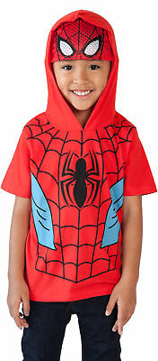 Marvel's Spider-man Toddler Boys Hoodie T-Shirt with Mask