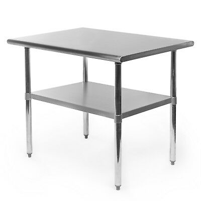 "Commercial Stainless Steel Kitchen Food Prep Work Table - 24"" x 36"""