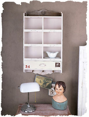 Wall Board Hanging Shelf Shabby Chic Antique White Wall Cabinet