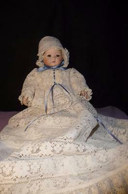 """13"""" Century CO. BISQUE GERMAN Baby Doll by Kestner 1989 ANTIQUE REPRODUCTION"""