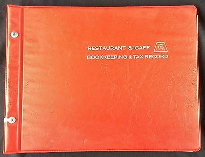 1964 Ideal System Restaurant & Cafe Bookkeeping & Tax Record Accounting Ledger