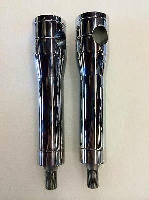 """7"""" NEW HD HARLEY CHROMED RISERS SET FXSTS & FLSTS SPRINGER CUSTOM with ADAPTER"""