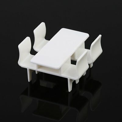 Railway Model White Rectangl Table Chair OR Leisure Ball Chair Settee1:75 Scale
