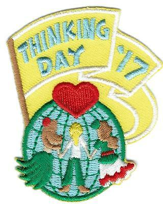 Girl THINKING DAY 2017 Fun Patches Crests Badges SCOUT GUIDE World International