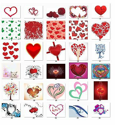 30 Personalized Return Address labels Hearts Buy 3 Get 1 free {h6}