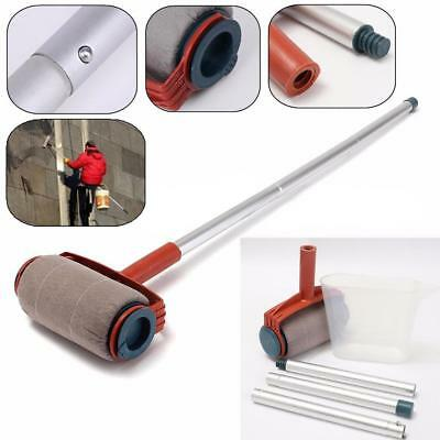 Wall Painting Rollers Brush Paint Tools w/ Plastic Cup Tubes Set Home Decor