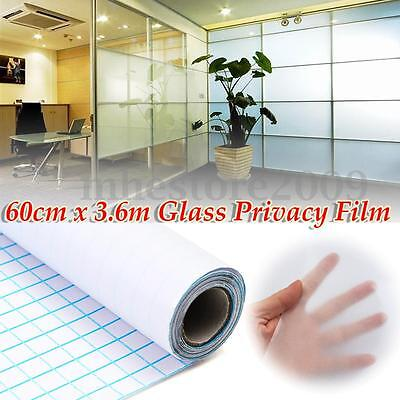 """24""""x12FT  Frosted Home Privacy Bedroom Bathroom DIY Window Tint Glass Film Sheet"""