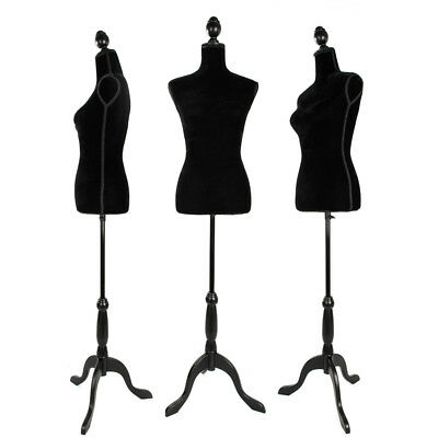 Female Mannequin Torso Clothing Dress Form Display W/ WhiteTripod Stand White