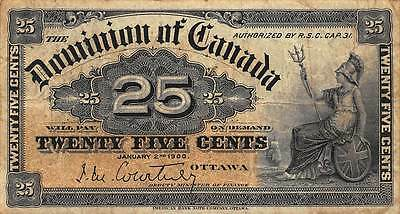 Canada 1900 25 Cents P-9a