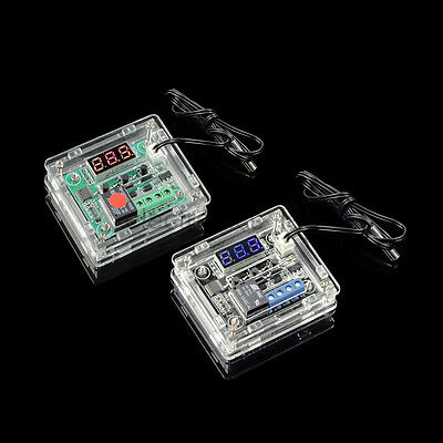DC 12V Red Blue Digital Display Temperature Controller Switch Board + Case