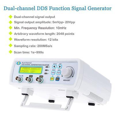 25MHz Dual-channel DDS Arbitrary Waveform Function Signal Generator Counter Y8Q2
