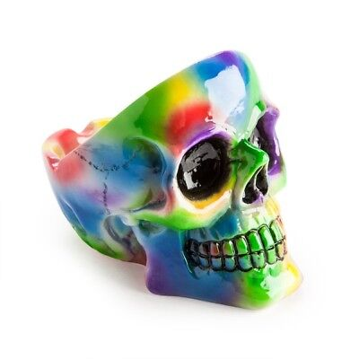 """TIE DYE SKULL ASHTRAY"" For Something A Little Different"