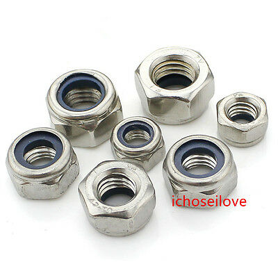 "2-50x 201SS Hex Nyloc/Nylon Insert Locking Cap Dome Nuts 1/4"" 1/2"""