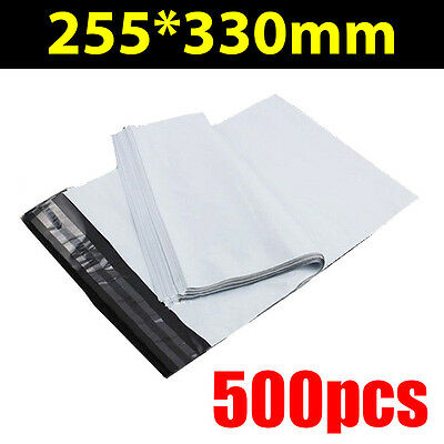 500x Poly Mailer 255*330mm Courier Bag Satchel Post Shipping